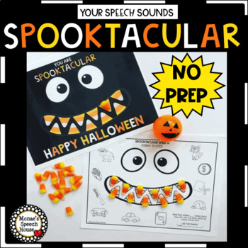HALLOWEEN SPEECH THERAPY ARTICULATION NO PREP worksheets
