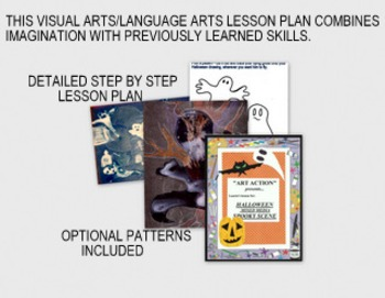 HALLOWEEN SPOOKY SCENE-mixed media and language arts