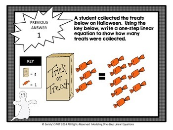 HALLOWEEN Scavenger Hunt One-Step Linear Equations Virginia SOL 5.18