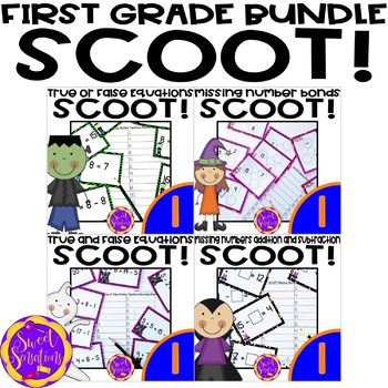 Halloween - Four First Grade Scoot or Task Cards