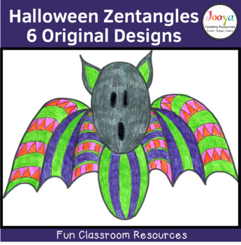 Zentangle Coloring Pages – Halloween