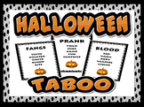 HALLOWEEN TABOO - EFL / ESL SPEAKING GAME