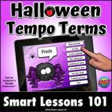 HALLOWEEN TEMPO BOOM CARDS™ Distance Learning Music Activi