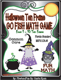 HALLOWEEN TEN FRAME GO FISH MATH CENTER GAME COMMON CORE MAFS
