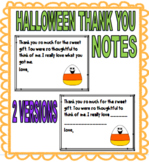 HALLOWEEN THANK YOU NOTES TO STUDENTS - 2 VERSIONS