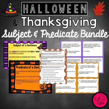 HALLOWEEN & THANKSGIVING SUBJECT & PREDICATE BUNDLE