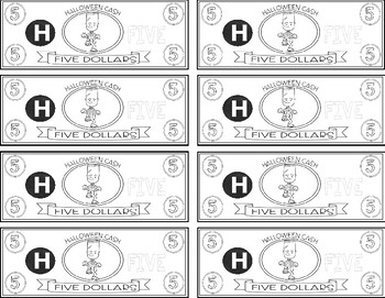 HALLOWEEN THEME - Classroom Money - EDITABLE