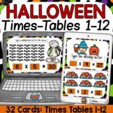 HALLOWEEN THEME: MULTIPLICATION (TIMES TABLES) BOOM DIGITAL CARDS