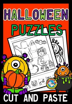 OCTOBER CRAFTS (HALLOWEEN CUT AND PASTE ACTIVITY)