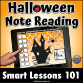 HALLOWEEN TREBLE CLEF BOOM CARDS™ Distance Learning Music