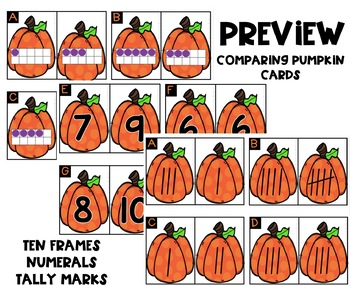 HALLOWEEN Theme Comparing Pumpkins- Numbers 1-10