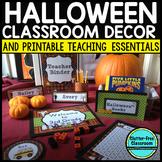 OCTOBER HALLOWEEN Classroom Theme EDITABLE Decor-34 Printable Product Bundle