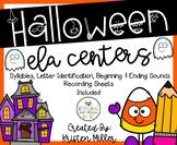 HALLOWEEN Theme ELA Centers- Includes 5 Activties