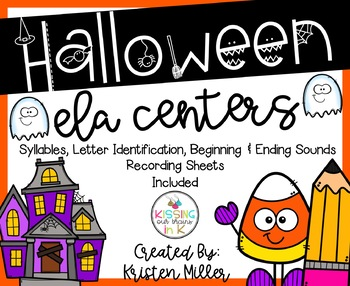 HALLOWEEN Theme ELA Centers- Includes 5 Activties