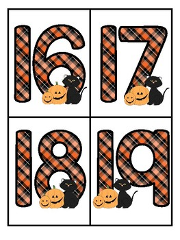 HALLOWEEN Theme Large Numbers 0-20 - Make Activities and Room Decor