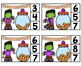 HALLOWEEN Theme Number Clip Cards 1-20- Candy Corn and Bats