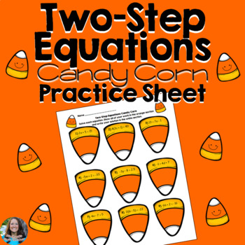 HALLOWEEN Two Step Equations Candy Corn
