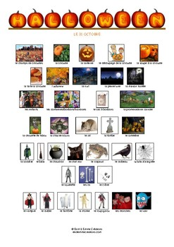 HALLOWEEN - VOCABULAIRE - IMAGIER