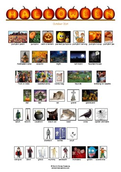 HALLOWEEN - VOCABULARY - PICTIONARY