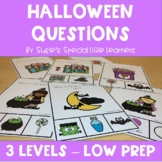 HALLOWEEN VISUAL WH QUESTIONS  FOR SPECIAL ED & SPEECH THERAPY