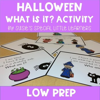 HALLOWEEN WHAT IS IT? LANGUAGE ACTIVITY FOR AUTISM SPECIAL ED AND SPEECH THERAPY