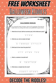 HALLOWEEN RIDDLES: Decode the Riddles
