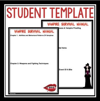 HALLOWEEN WRITING ASSIGNMENT: VAMPIRE SURVIVAL MANUAL