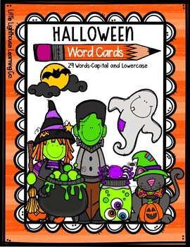 HALLOWEEN Word Cards {Capital & Lowercase}