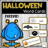 HALLOWEEN Word Cards (Color & BW)