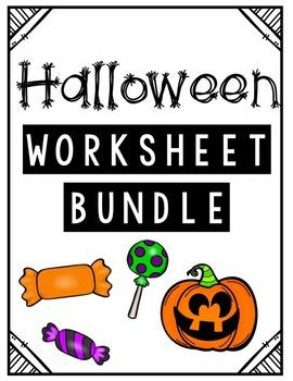HALLOWEEN Worksheet BUNDLE!