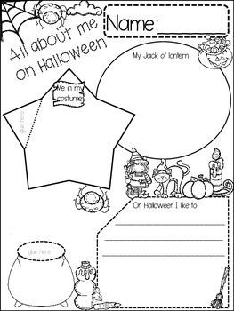 HALLOWEEN {{quick topics}} one interactive worksheet