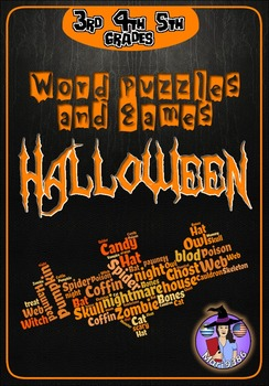 Halloween WORD PUZZLES and GAMES