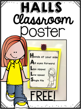 HALLS Classroom Management Poster (FREE)