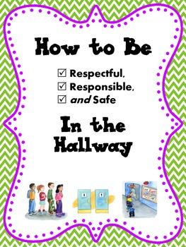 HALLWAY Expectations Social Story (SWPBS/PBIS): Respectful