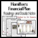 HAMILTON'S FINANCIAL PLAN  Reading and Cartoon Notes FOR E