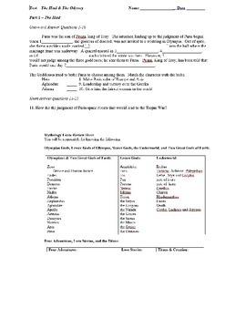 HAMILTON MYTHOLOGY MYTH OVER 30 QUIZZES AND TESTS PACK