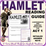 HAMLET ACT 1 Reading and Discussion Questions with Detaile