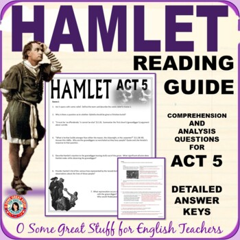 HAMLET ACT 5  Reading and Discussion Guide with Detailed Key