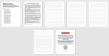 HAMLET - AP Literature Essay Prompt - Act Three