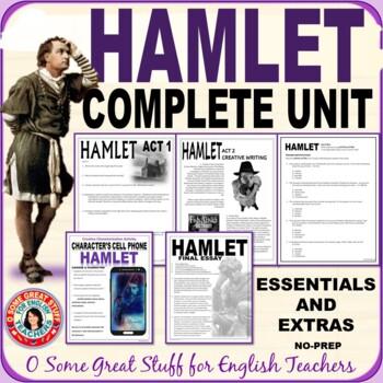 HAMLET COMPREHENSIVE NO-PREP BUNDLE Formal and Creative Activities Complete Unit