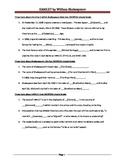 HAMLET Guided Reading Worksheet
