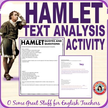 HAMLET Quotes and Questions Final Comprehension and Analysis Evaluation