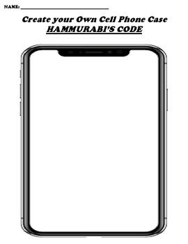HAMMURABI'S CODE CREATE YOUR OWN CELL PHONE COVER
