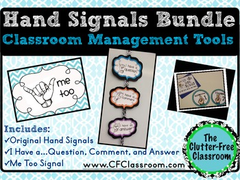 HAND SIGNAL 3 PRODUCT BUNDLE for CLASSROOM MANAGEMENT