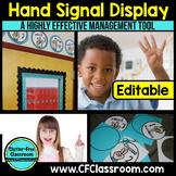 CLASSROOM MANAGEMENT: Hand Signals (EDITABLE)