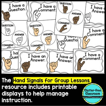 HAND SIGNALS FOR GROUP LESSONS - WHOLE CLASS BEHAVIOR MANAGEMENT IDEA