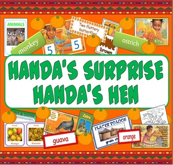 HANDA'S SURPRISE AND HANDA'S HEN HUGE STORY TEACHING RESOURCES EYFS KS1 AFRICA