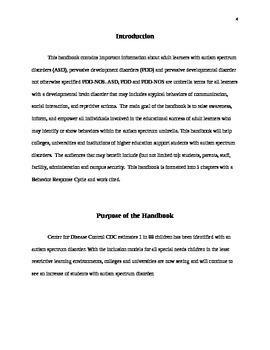 HANDBOOK AUTISM FOR TEACHERS AND ADMIN