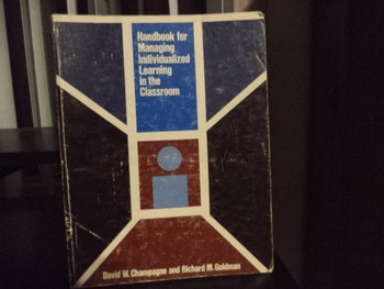 HANDBOOK FOR MANAGING INDIVIDUALIZED LEARNING