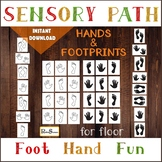 HANDS AND FOOTPRINTS Sensory Path for floor, Preschool Mot